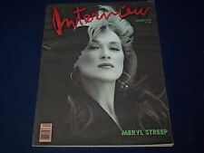 1988 DEC INTERVIEW MAGAZINE - MERYL STREEP COVER - GREAT PHOTOS & ADS - J 1462