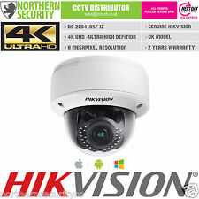 4K UHD 8MP HIKVISION DS-2CD4185F-IZ 2.8-12MM MOTOR LENS ONVIF P2P DOME IP Camera