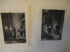 2 gravures 19e ; LOUIS LELOIR pinx - JOUAUST Ed r-  L.FLAMENG.Sc