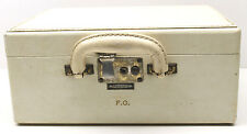 Vintage 1950's Shortrip Leather Vanity Travel Case Hand Held Ship Plane Train