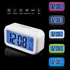 Snooze Electronic Digital Alarm Clock LED light Light Control Thermometer Lot E3
