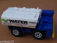 2014 Matchbox WATER TANKER 15/120 MBX Construction LOOSE Blue WHEEL VARIATION