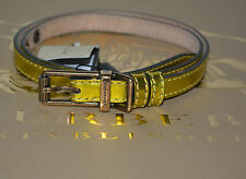 NIB BURBERRY METALLIC LEATHER BELT SZ 32/80 MADE IN ITALY