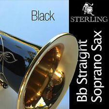 Black Straight Soprano Sax • STERLING Bb Saxophone • With Case and Accessories •