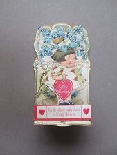 VINTAGE Valentine Card Stand Up Cut Out Cute Little Girl Tallest in the Class