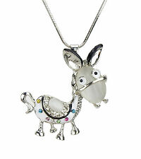 Chain Donkey silver long necklace with a large Pendant Donkey by Ella Jonte new