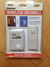 WIRELESS DOORBELL, REMOTE CHIME WORKS UP TO 50 FEET FROM DOORBELL!(EMSON)