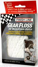Finish Line Gear Floss - 20 x 20-inch Microfiber Bike Cleaning Ropes CX MTB Road