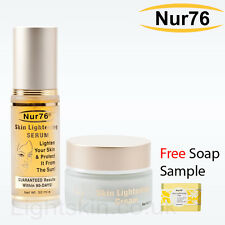 Nur76 Skin Lightening CREAM & SERUM + FREE Soap Sample - nur 76 * 700+ sold *