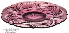 Amethyst Glass Inverted Thistle Pattern Large Platter - Mosser USA
