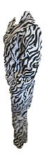 Zebra Print Boiler Suit Zebra Coveralls Animal Print Overalls Size 12 Medium
