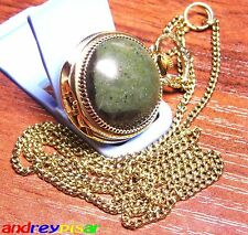 Mint Women's Stone Watch Chaika Ussr Russian Vintage Gold Plated Chain Serviced