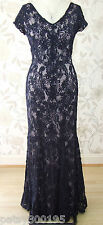 BNWT Jacques Vert Navy Tapework Long Maxi Evening Dress Size 20 RRP £349