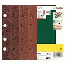 Bosch 25 ponçage feuille set pour orbital sanders, grain 40-120, 93x185mm