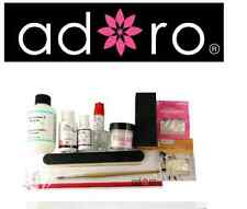 PINK  ACRYLIC POWDER ADORO PROFESSIONAL FULL NAIL KIT - 13 PCS like mia secret