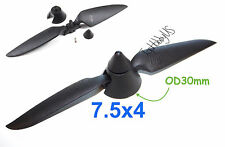 7.5x4 Plastic Folding Propeller Assembly (2.3mm Blush Motor Only), US 025-00207