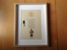 Royal Marines Oath Of Allegiance Cap Badge And Miniature Medal Northern Ireland