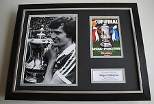 Roger Osborne SIGNED FRAMED Photo Autograph 16x12 display Ipswich Town AFTAL COA