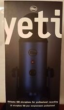 Blue Yeti USB Condenser Microphone - Midnight Blue, Professional Recording, New