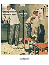 "Norman Rockwell ""DOCTOR'S OFFICE"" print ""BEFORE THE SHOT"" flu vaccine"