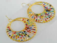 Fashion Accessories Exquisite Romantic Multi-Color Bead Circle Earrings