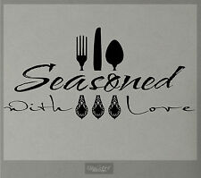 ## SEASONED WITH LOVE WALL DECAL KITCHEN VINYL STICKER FORK SPOON KNIFE CUISINE