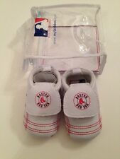 MLB Boston Red Sox Baby Boy Girl Shoes Soft Sole Size 6-12 Months 3-4 White Red