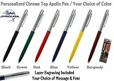 Fisher Space Pen / Personalized Chrome Top Apollo Ball Point Pen