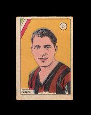 Calcio. Egidio Capra. Figurina anni 30. Fanfulla, Milan, Lucchese, Modena, Pavia
