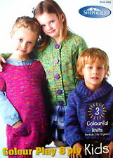 Shepherd Knitting Book - KIDS - Colour Play 8 Ply - 3 Designs Ages 2 to 10 - VGC