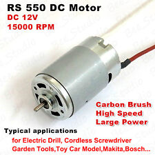 DC12V 15000RPM High Power Large Torque 550 DC Motor for Garden Electric tool DIY