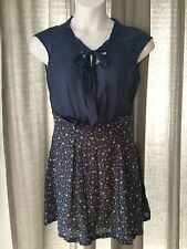 NEW~ProMod Dress~10~Slate Blue~Polka Dots~NWOT
