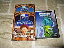 2 Disney/Pixar Ratatouille 2007 2 DVD WS/SLIPCVR & Monsters, Inc. 2002 2DVD/PAM