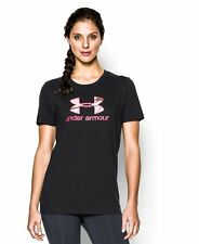 Women's SMALL Under Armour HeatGear Camouflage Logo Short Sleeve T-Shirt 1257678