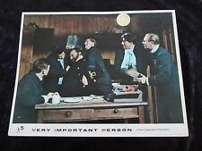 VERY IMPORTANT PERSON lobby card #7 JAMES ROBERTSON JUSTICE, LESLIE PHILLIPS