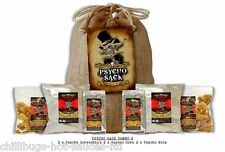 PSYCHO SNACK SACK GIFT - 2 x Ghost Pepper Chilli Scratchin's, Nuts and Popcorn