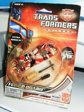 2008 OPTIMUS PRIME RED FINGER BOARD Transformers Mint in Fair Package