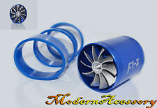 BLUE DUAL FAN TURBONATOR FOR SUPERCHARGER/TURBO/COLD AIR INTAKE HOSE F1-Z