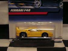HOT WHEELS 2000 Collector# 122 FERRARI F40 YELLOW with metal base)RARE