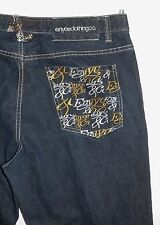 Enyce Mens Jeans Sz 42 x 32L Embroidered Pocket Relaxed Loose Fit 100% Cotton