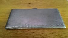 Stylish Vintage Silver Plated Cigarette Case 1940s made by REXAGON