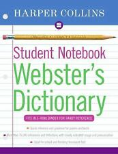 Student Notebook: Webster's Dictionary by Harper Collins (2004, Paperback)
