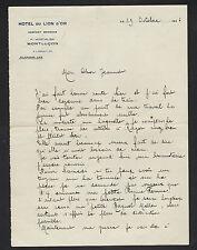 """MONTLUCON (03) HOTEL DU LION D'OR """"Propriétaire P. HOSTALIER"""" en 1926"""