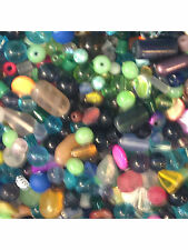 1/4 pound (140 grams) mixed grab-bag lot of beads of all kinds, many colors