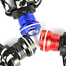 Rechargeable 5000LM XML T6 LED Zoom Headlamp 18650 Flashlight Torch Lamp 5mode
