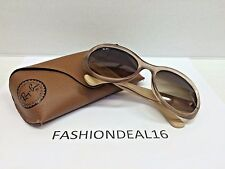 New Rayban Brown Translucent/Beige Oversized RB4191 6108/13 Italy Sunglasses