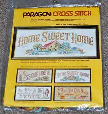 Vintage 1977 Paragon Needlecraft Home Sweet Home Printed Cross Stitch Kit  #0678