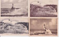Lot 4 cartes postales anciennes LE TREPORT la jetée