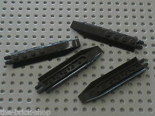 4 x LEGO black hinge ref 30407 /set 8112 7713 4746 7741 7044 7031 4743 7782 8108