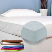 FITTED BED SHEETS Single Double King & Super King size, Pillowcase In 22 Colour